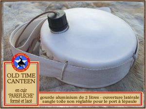 Javelot - Old Time Canteen - parefleche leather and canvas