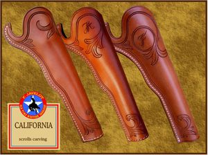 Javelot - Holster california scrolls carving