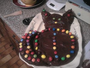 GATEAU FORME CHAT FINIT