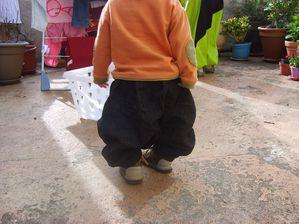 sarouelounet velours noir froissé, 12 mois, dos