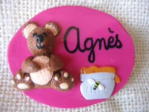 Badge ourson AGNES