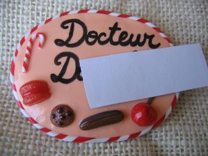 Badge sucreries DOCTEUR D.
