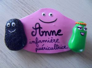 Badge fimo Barbapap ANNE