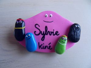 Badge fimo Barbapap + 4 SYLVIE