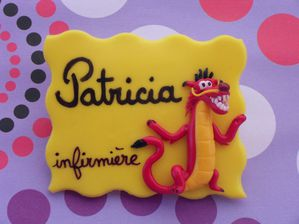 Badge fimo Muchu le dragon PATRICIA