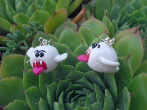 Boucles d'oreilles fimo fantôme Boo