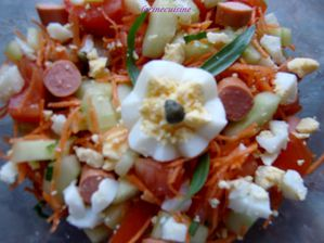 salade de crudits printanire