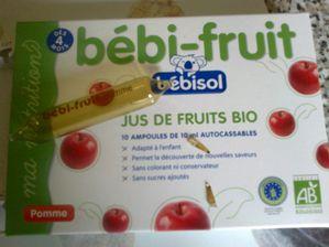 Jus de fruits bio Bébisol