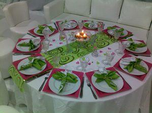 D Coration De Table Vert Anis Fushia Blanc Le Blog De Hakimtraiteur
