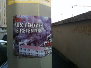 Marseille sticker FeuAuxCentresDeRetention