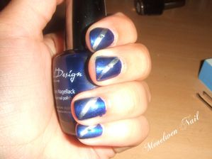 Nail art royal flash