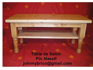 Table de Salon - Pin