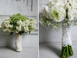 lace-wrapped-bouquet-green-wedding-shoes.jpg