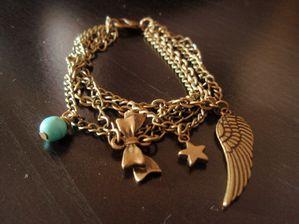 Bracelet Aile et Turquoise