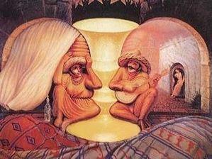 Dali -vieux couple de musiciens