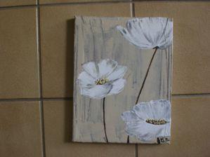 Tableau home deco avec fleurs le blog de creationdemary for Tuto home deco tableau