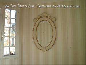 papier peint rayé miroir