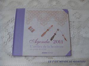 AGENDA 2011 ATELIER DE LA BRODEUSE