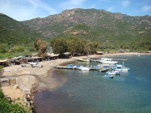 Corse girolata plage port mouillage