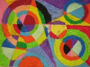 Color-Explosion Robert-Delaunay