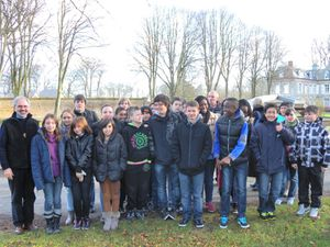 photo de groupe collégiens Thibermont 2012