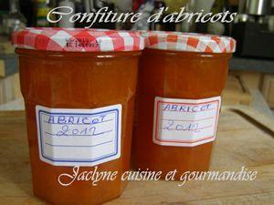 confiture d'abricos Jaclyne cuisine et gourmandise