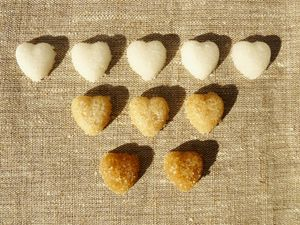 decorative-sugar-hearts-brown-sugar white-sugar all