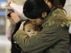 japonaise et son enfant