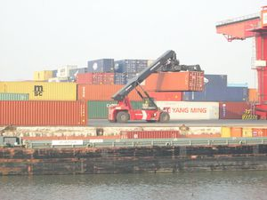 Container forklift