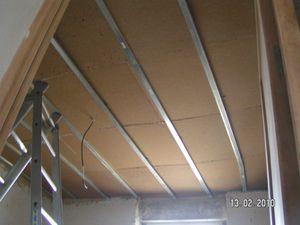 plafond 2 isolant en plaques en fibres de bois