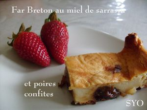 Far Breton au miel de sarrasin-poires confites-Mamigoz