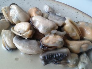 moules sauce champagne