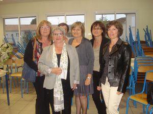 1 J Dussat avec ses collègues Secrétaires de Mairie DSC08