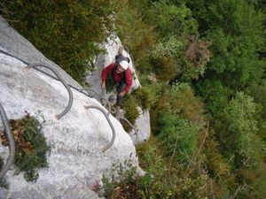 Via ferrata (Roche veyrand) 2