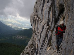 Via ferrata (Roche veyrand) 9