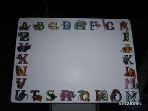 Relooking bureau thème alphabet (2)