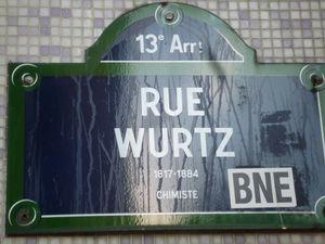 Rue Wurtz -1817-1884 - chimiste