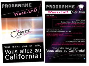Flyers le california Discothèque