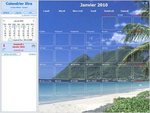 Calendrier Xtra