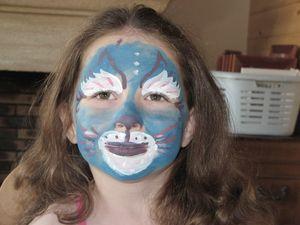 le chat bleu maquillage pour enfant le monde de st phaline. Black Bedroom Furniture Sets. Home Design Ideas