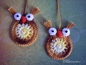 hiboux-duo-decoration-crochet