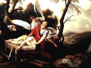 Laurent de La Hire 1606-1656 - sacrifice d Isaac -1650- M