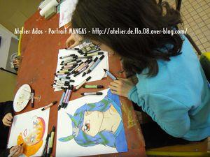 Portrait Mangas Atelier Artiste Peintre Ardennes Flo Megardon22