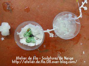 Sculpture Neige Mobile Atelier Hiver Atelier de Flo14