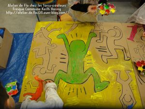 Keith Haring Enfants Peinture Sedan Artiste Peintre lo Megardon4