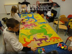 Keith Haring Enfants Peinture Sedan Artiste Peintre lo Megardon6