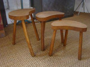 petites table haricot gigognes vendues rosycabroc design industriel. Black Bedroom Furniture Sets. Home Design Ideas