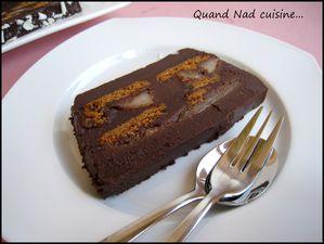 terrine de chocolat aux spéculoos et aux poires3