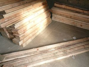 wood collected by the villager for school furnitures