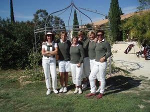 2010 Equipe dames au GARDEN GOLF AVIGNON